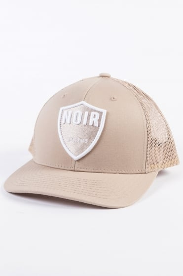 Shield Trucker Cap Beige