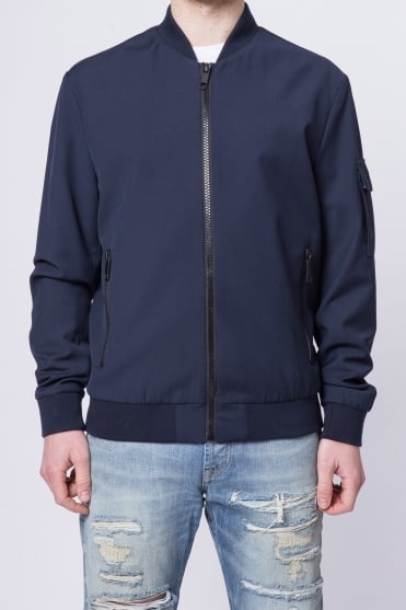 Basic Bomber Jacket Navy