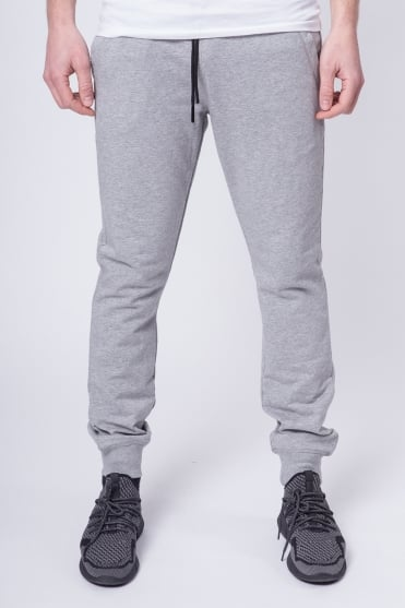 Badged Basic Sweatpants Grey