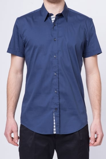 Basic Short Sleeve Shirt Navy