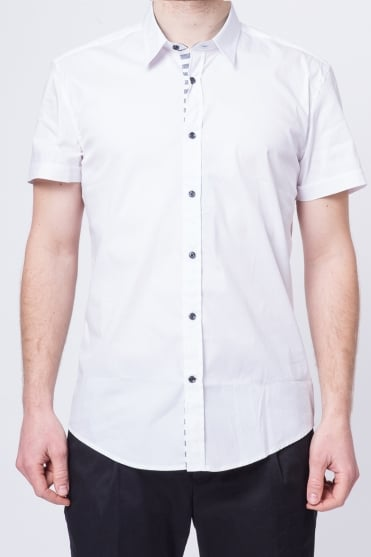 Basic Short Sleeve Shirt White