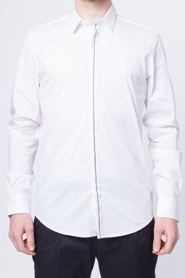 Basic Long Sleeve Shirt White