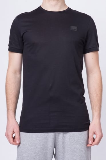 Basic Badged Crew Neck T-Shirt Black