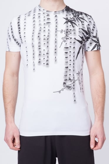 Monochrome Print T-Shirt White
