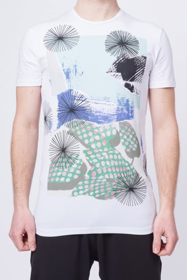 Multi-Colour Print T-Shirt White