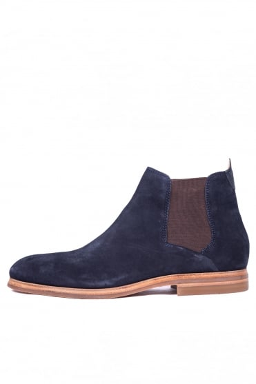 Tonti Suede Mid Chelsea Boots Navy