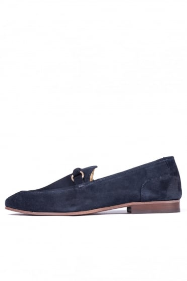 Renzo Suede Loafers Navy
