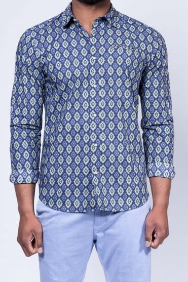 Cotton Poplin Shirt Blue