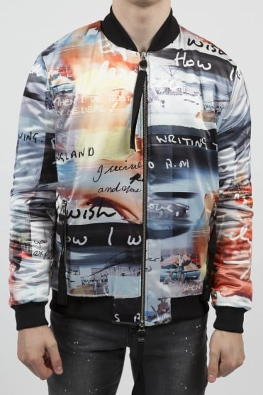Waltzer All Over Print Bomber Jacket Multicoloured