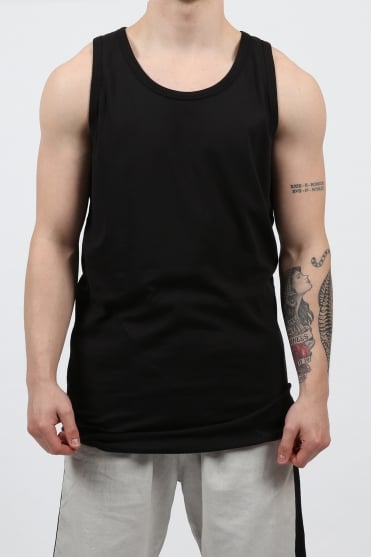 Panel Stitch Detail Vest Black