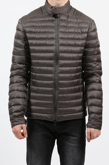 Biker Padded Jacket Grey