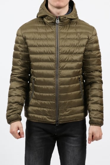 Padded Hooded Jacket Tan
