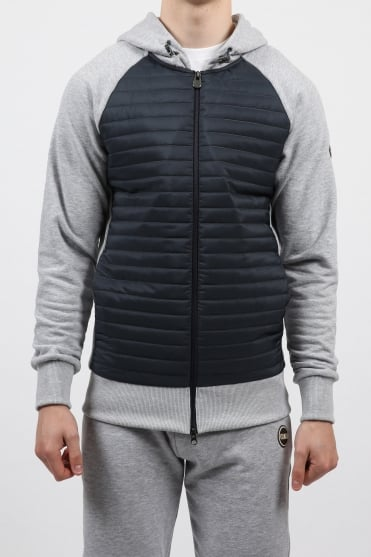 Padded Hooded Sweatshirt Navy