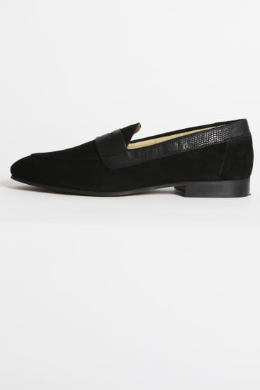 Follen Suede Loafer Black