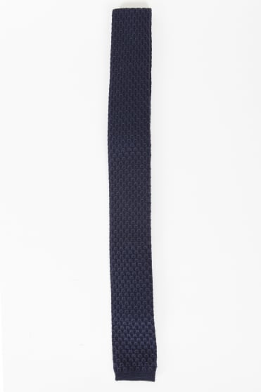 Smart Knitted Tie Navy