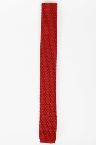 Smart Knitted Tie Red