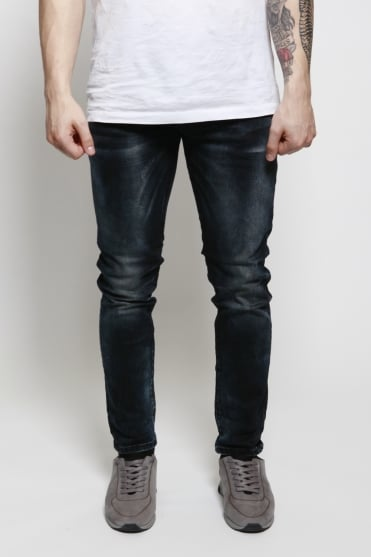 Tye Sander Slim Carrot Fit Jeans Blue