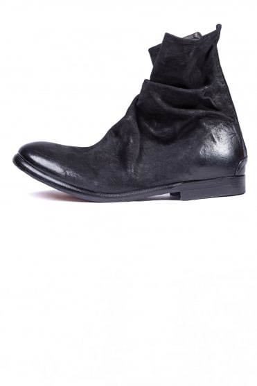 Gliv Leather Boots Black