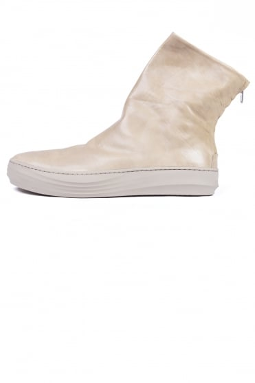 Pedro Leather Boots Beige