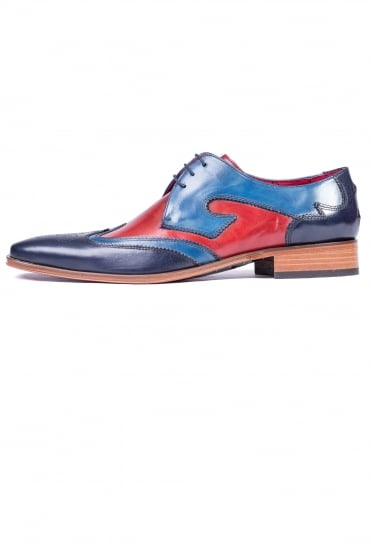 Double Wine Tip Shoes Blue
