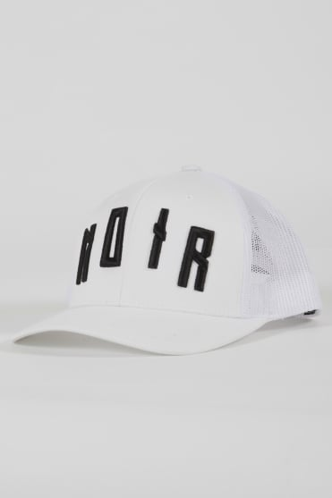 Iconic Noir Trucker Hat White/Black