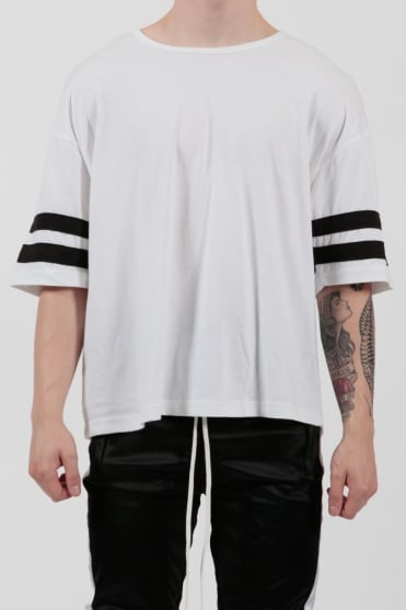 Varsity Jersey T-Shirt Black/White