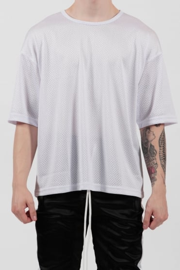 Oversized Mesh T-Shirt White