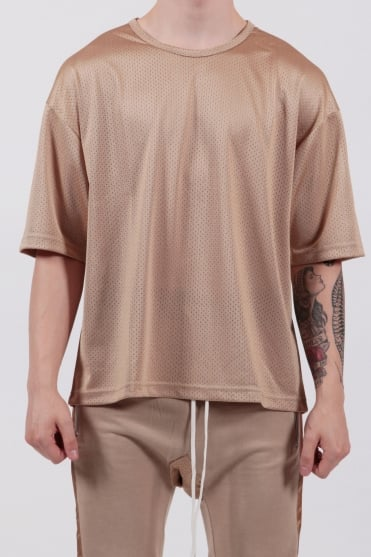 Oversized Mesh T-Shirt Dust