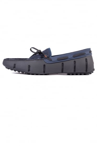 Lace Loafers Driver Black/Navy