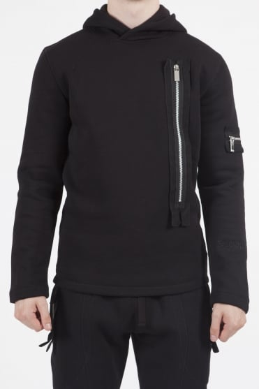 Civil Pull Over Hoodie Black