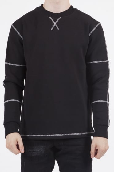 Count Stitch Detail Sweatshirt Black