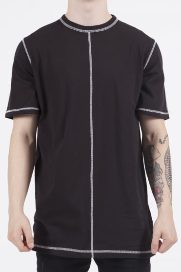 EightPM Longline T-Shirt Black