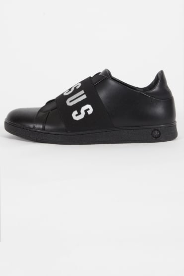 Logo Band Trainers Black