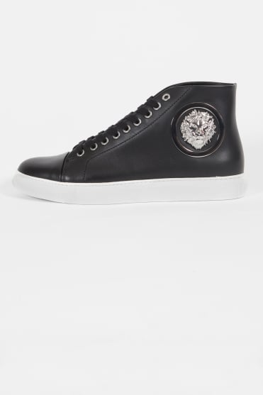 Lion Head Hi Top Trainers Black