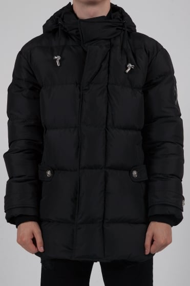 Hooded Padded Coat Black