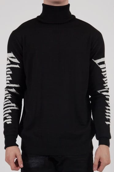 Twin Long Sleeve Knit Black