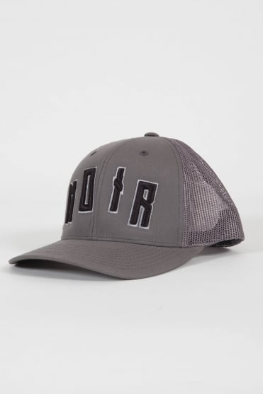 Iconic Noir Trucker Hat Grey/Black