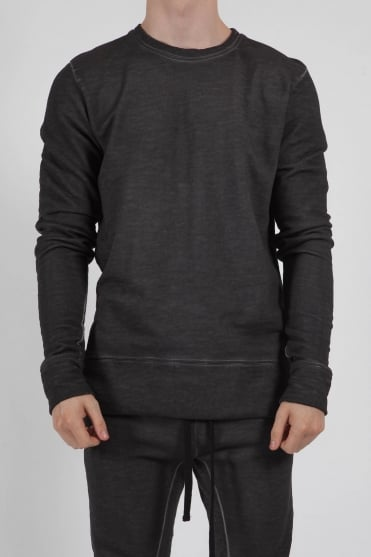 Crew Neck Pullover Sweatshirt Charcoal