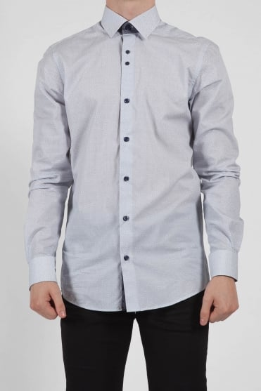 Seville Cut Away Collar Shirt Grey