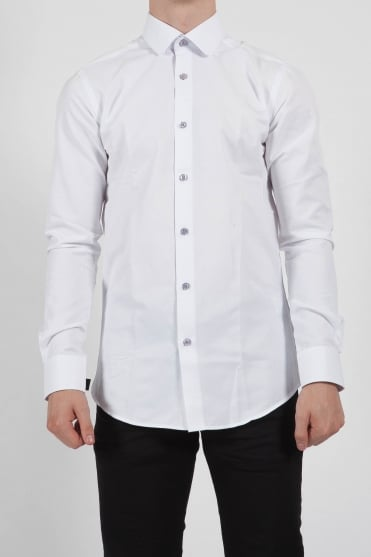 Rome Round Collar Shirt White