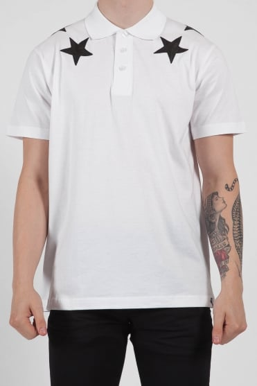 Short Sleeve Star Polo White