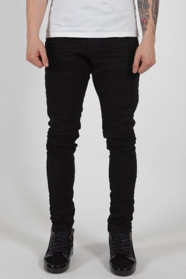 Essential Stacked Jeans Black