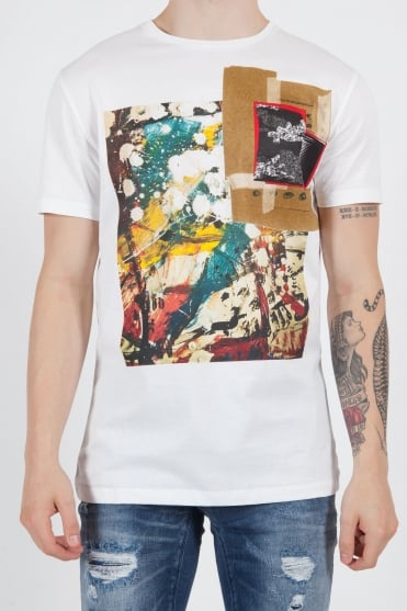 Front Printed T-Shirt White