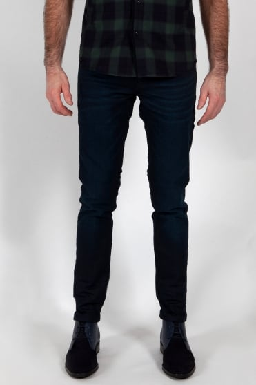Tye Plus Slim Carrot Fit Jeans Dark Blue