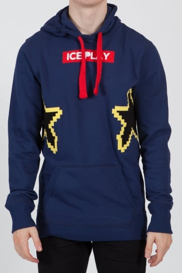 Star Hooded Sweatshirt Navy