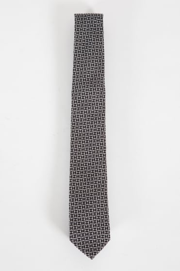 Narrow Tie Grey/Black