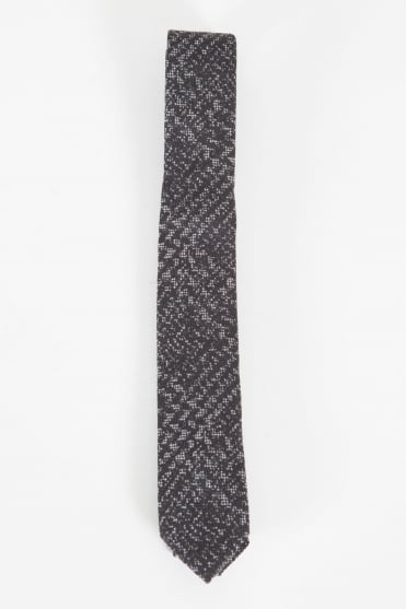 Narrow Checked Tie Grey/Black