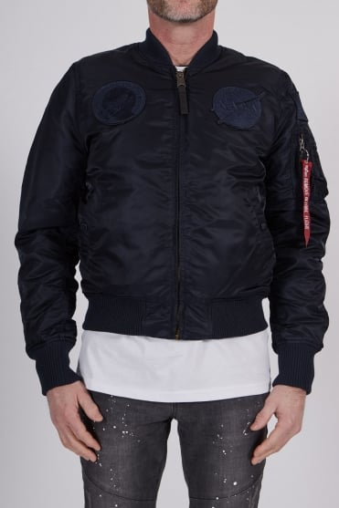 Nasa Bomber Jacket Navy/Navy
