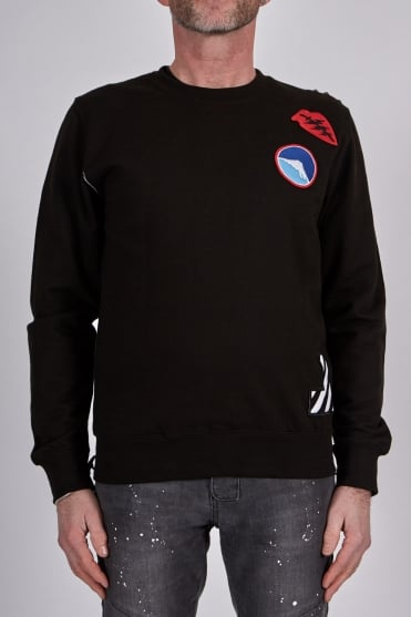 Madusa Crew Neck Sweatshirt Black