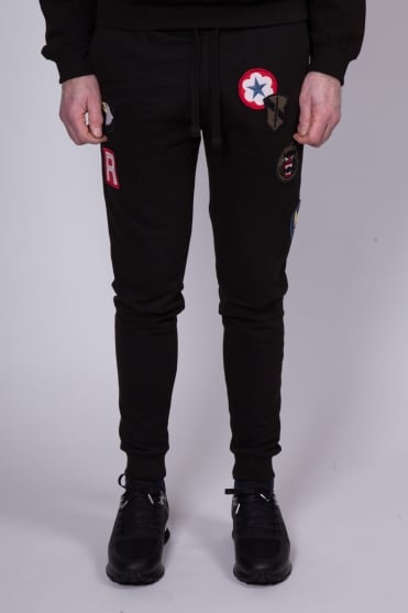 Patch Sweatpants Black